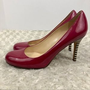 Kate Spade Women's KAROLINA  Stripe Heel pump 9.5